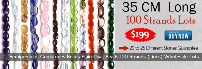 Semiprecious Gemstones Beads Plain Oval Beads 100 Strands (Lines) Wholesale Lots