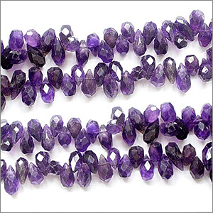 African Amethyst Beads Side Drill Drops Faceted Shape And Size 8x5 To 9x6 mm