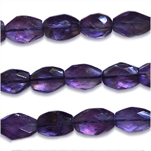 African Amethyst Beads Oval Faceted Shape And Size 8x6 mm
