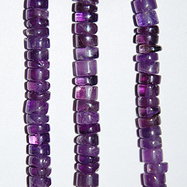 African Amethyst Beads Tyre Plain Shape And Size 6 To 8 mm