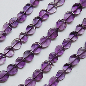 African Amethyst Beads Coin Plain Shape And Size 6 To 8 mm