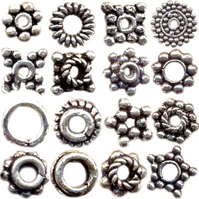 Silver Spacer Beads Lots - Spacer Beads Wholesale Lots