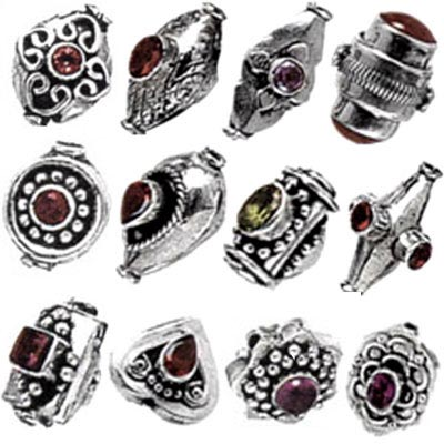 Silver Stone Beads Lots - Stone Beads Wholesale Lots