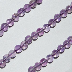 Brazil Amethyst Beads Round Plain Shape And Size 4 To 5 mm