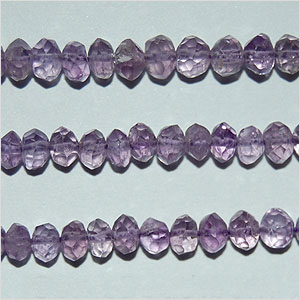 Brazil Amethyst Beads Rondel Faceted Hand Cut Shape And Size 5 To 6 mm