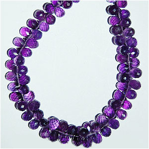 African Amethyst Side Drill Drops Briolette