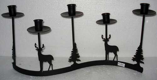 Wrought Iron Taper Candle Holders