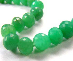 Chrysoprase Side Drilled Drop Micro Faceted