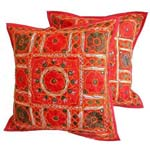 Embroidered Cushion Covers - Embroidered Cushion Covers Manufacturer, Wholesale Embroidered Cushion Covers
