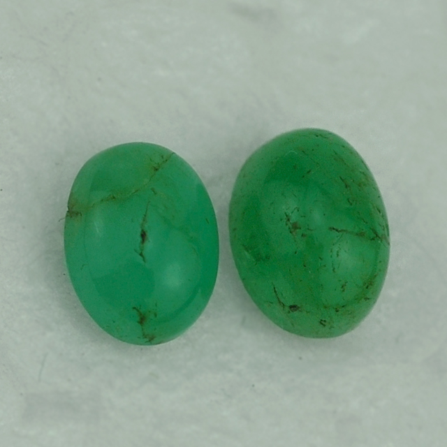 Emerald In India - Emerald Gemstone - Emerald Oval Cab 6X4 mm