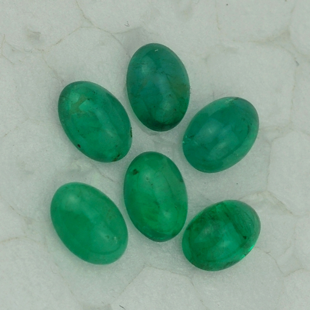 Supplier Of Emerald - Emerald Gemstone - Emerald Oval Cab 5X4 mm