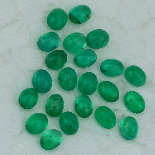 Wholesaler Of Emerald - Emerald Gemstone - Emerald Oval Cab 4X3 mm