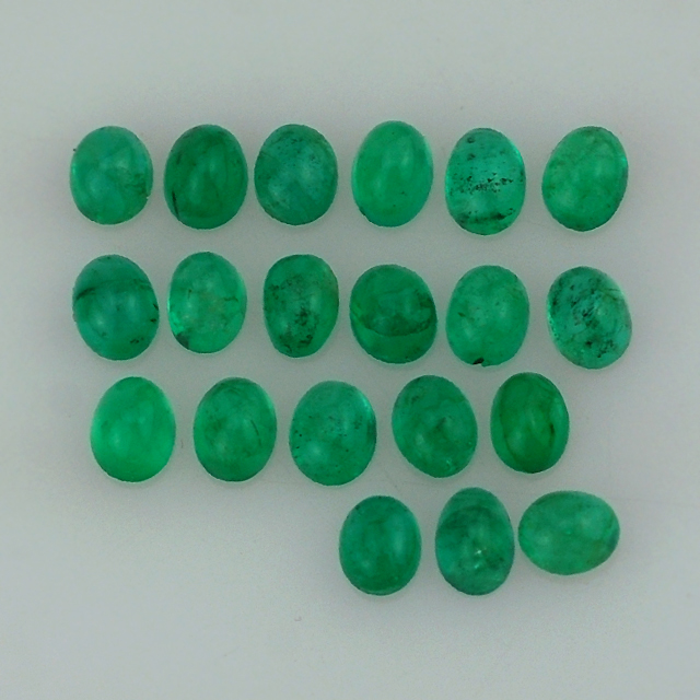 Natural Emerald - Emerald Gemstone - Emerald Oval Cab 9.50X6.50 mm