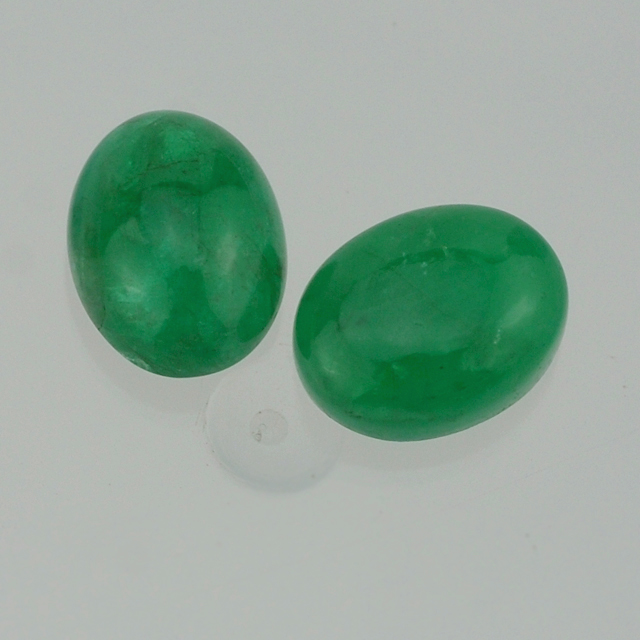 Emerald from India - Emerald Gemstone - Emerald Oval Cab 5X4 mm