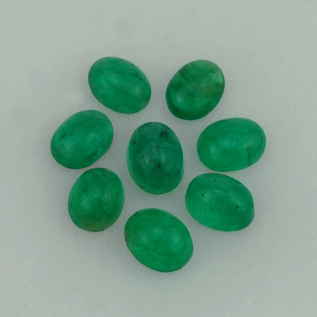 Wholesaler Of Emerald - Emerald Gemstone - Emerald Oval Cab 5X4 mm