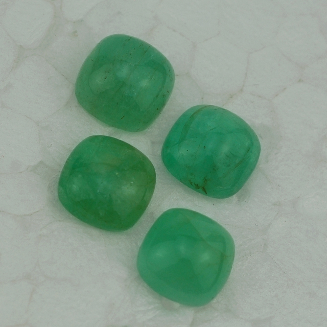 Emerald In India - Emerald Gemstone - Emerald Cushion Cab 5 mm