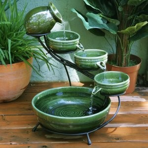 Mosaic Terracotta Cascade  Fountain For Indoor/Outdoor