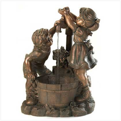 Lovely Children Running Water Table Top Or Indoor Fountain