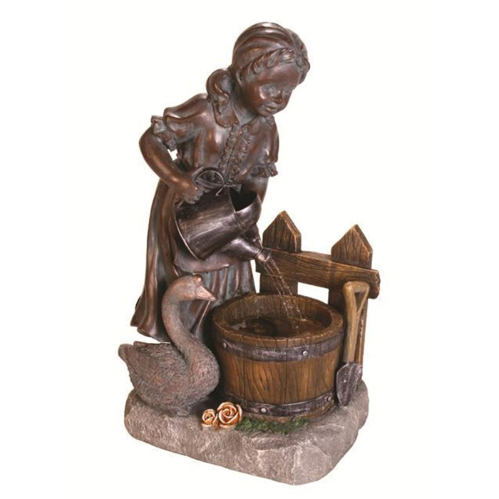 Lovely Child Running Water Table Top Fountain