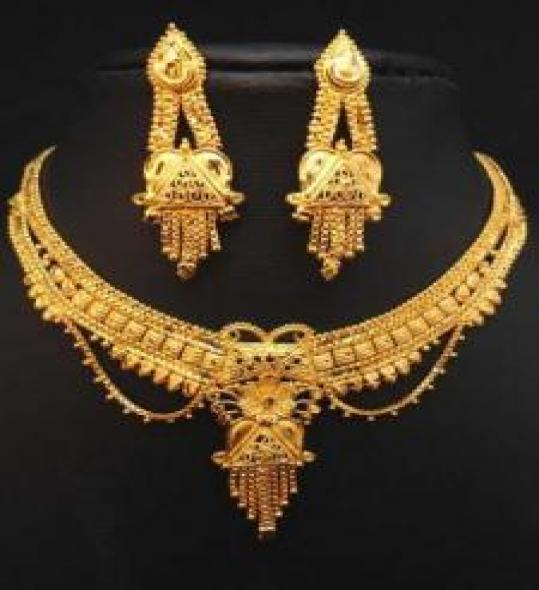 Exclusive Design Gold Plated Jewelry Set