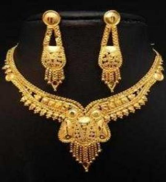 Unique Design Gold Plated Jewelry Set
