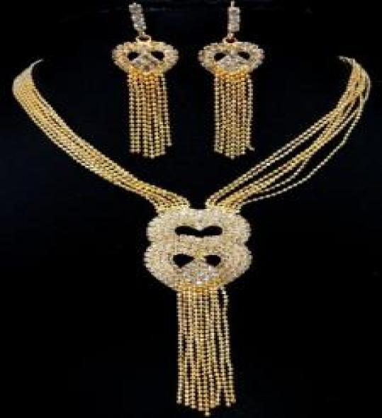 Lovely Gold Plated Jewelry Set