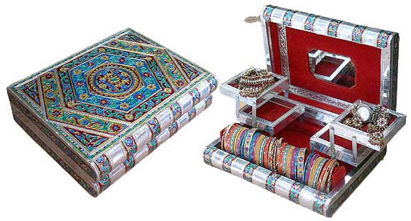 Colorfull Meenakari Work Jewellery Box