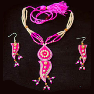Jute Eco Friendly Fashion Jewellery Necklace Set.