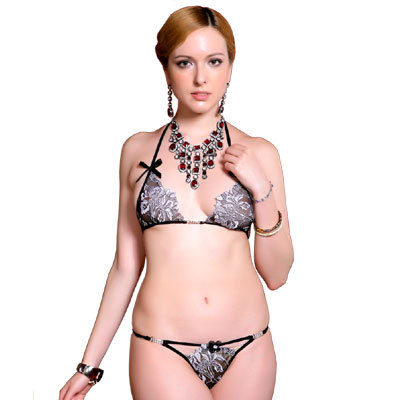 Designer Hot Horny Black Honeymoon  2 Pc Bikini Set