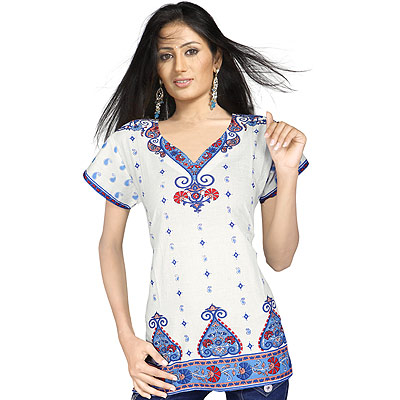 Simple Elegant Girls Indian Cotton Kurti Top