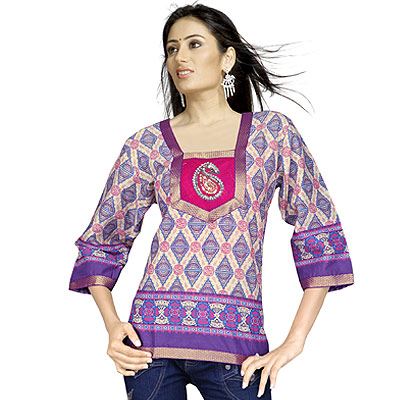 Bollywood Girls Paisley Design Indian Cotton Top