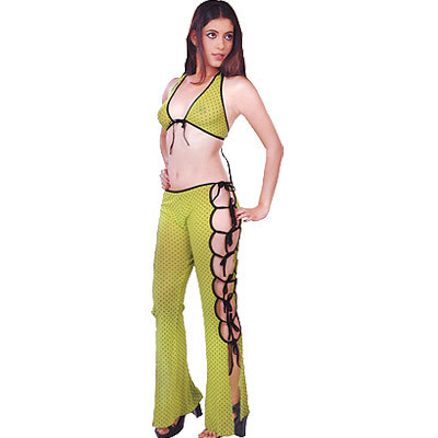 Ladies Soft Green Top Leggie Naughty Night Suit