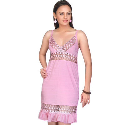 Silky Soft Pink Middy Night Wear Sleep Wear Nighty