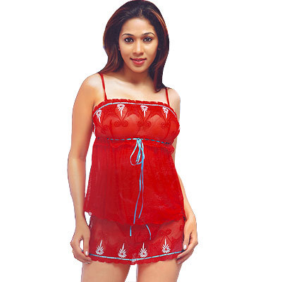 Trancy Red Girls Night Wear Naughty Top Pantie Set