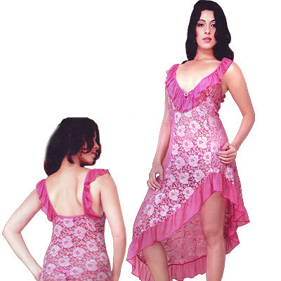 Blushy Pink Mermaid Style Young Lady Naughty Frock