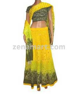 Womens Clothing, Womens Apparel & Clothes - Cheapest Bandhej Lehenga Choli
