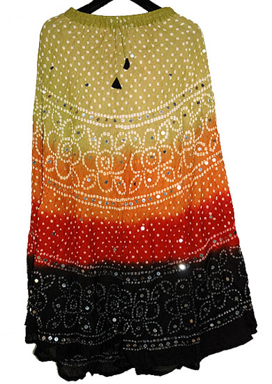 Girls bandhej skirt
