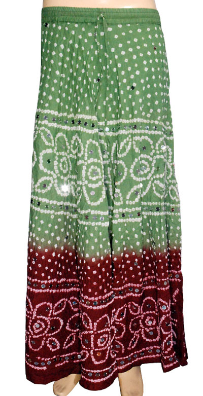 Cotton Bandhej Skirt