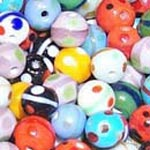 Dotted and trail glass bead mix