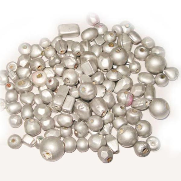 Miracle mix light silver, approx 2000 pcs in kilo