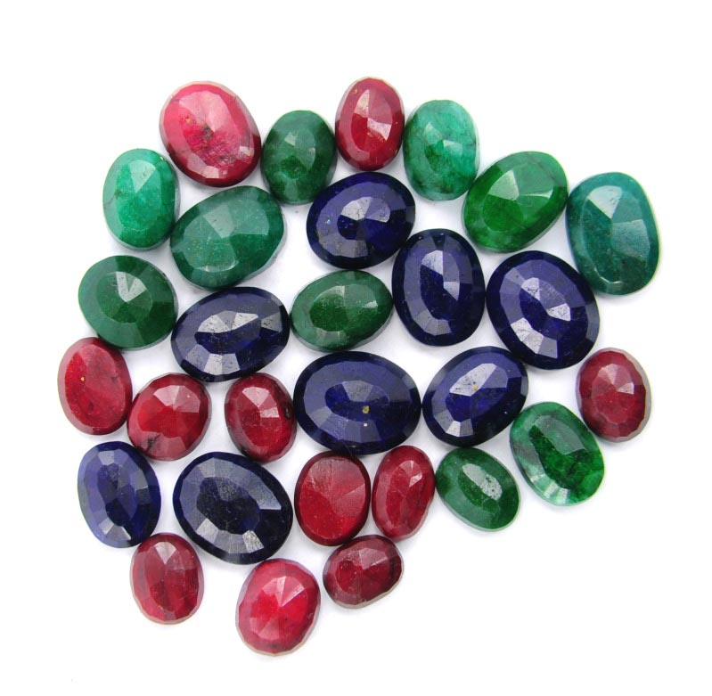 Emerald, Ruby, Sapphire Mix Gemstones Lot - Wholesale Mix Gemstone Lot Canada