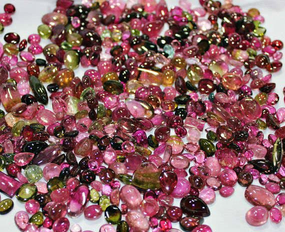 Watermelon Tourmaline Mix Gemstones Lot - Wholesale Tourmaline Gemstone Lots