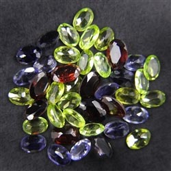 Garnet, Peridot, Iolite Mix Gemstones Lot - Mix Gemstones Lot Malaysia
