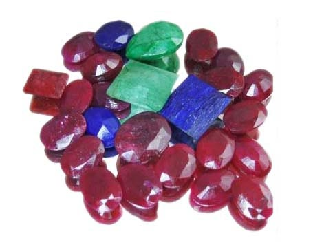 Ruby, Emerald, Sapphire Mix Gemstones Lot - Wholesale Gems in USA - Gemstone Lot in USA