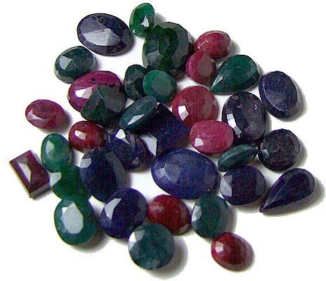 Emerald, Ruby, Sapphire Gemstones Lot - Mix Gemstones Lot Tanzania