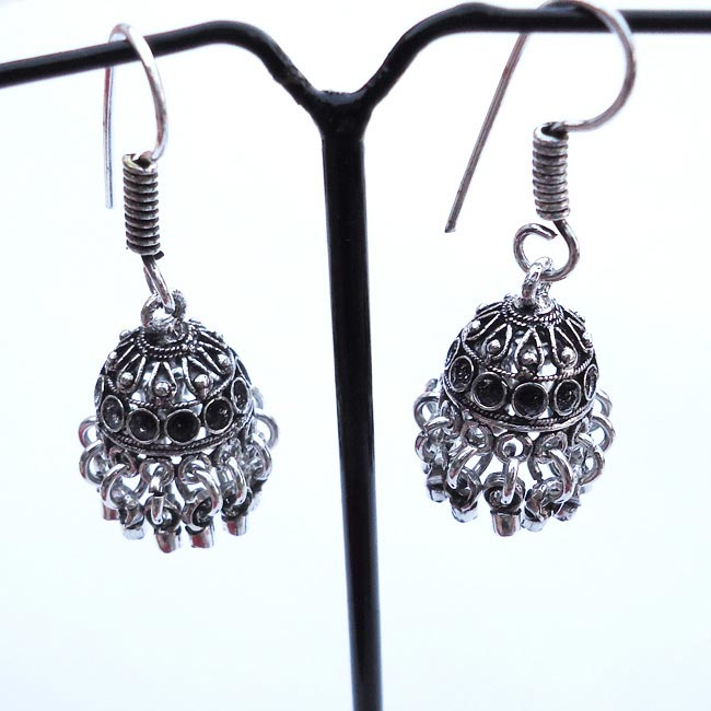 Plain Jhumka Traditional Indian Earrings