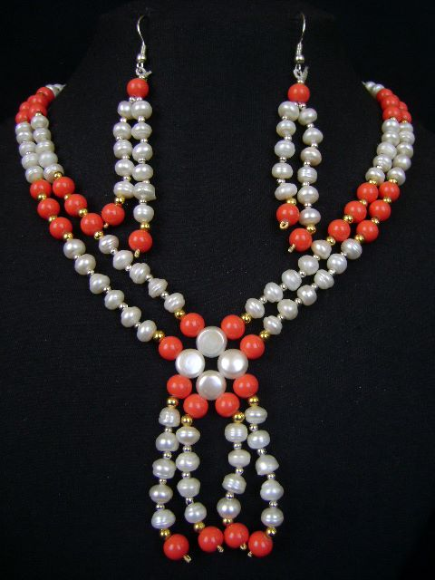 Exclusive Design Pearl Necklace Set at very affordable price