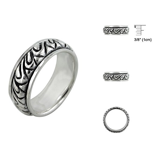 Sterling Silver Plain Ring At Zenamart.Com