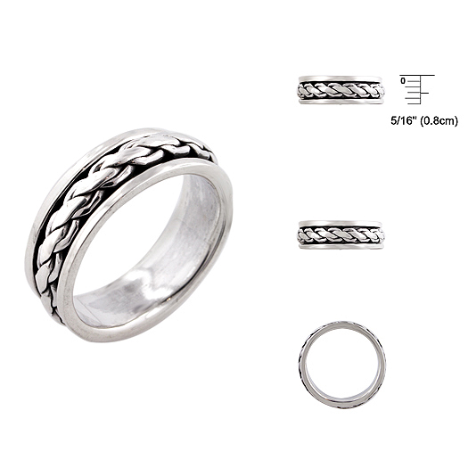 925 Silver Ring With Designer Look