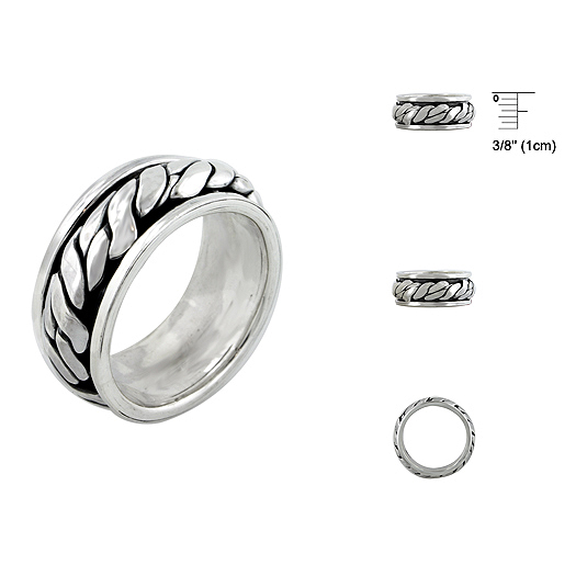 Wholesale Sterling Silver 925 Spin / Moving Rings  , Spin Rings, Moving Rings, Silver Moving Rings, Silver Spin Rings,